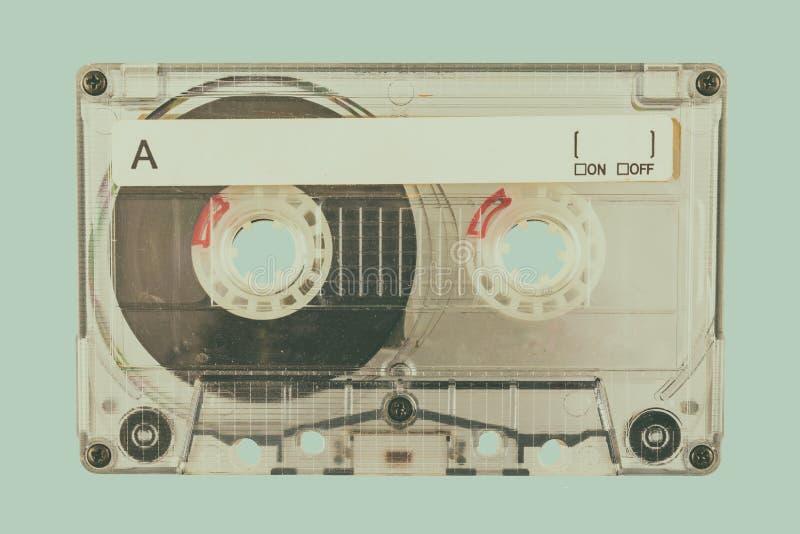 R?tro image d?nomm?e d'une cassette compacte image stock