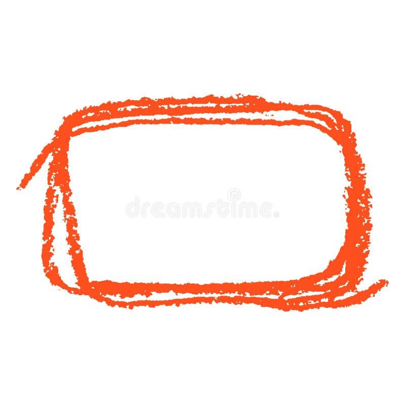 R?tt fyrkantigt kopieringsutrymme eller ram med den rektangul?ra formen f?r pastellf?rgad ljus f?rg Form f?r slagl?ngd f?r grunge vektor illustrationer