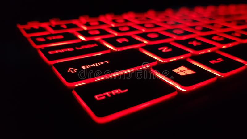 R?tt tangentbord fotografering för bildbyråer