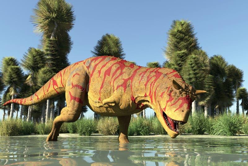 R?uberischer Dinosaurier stock abbildung