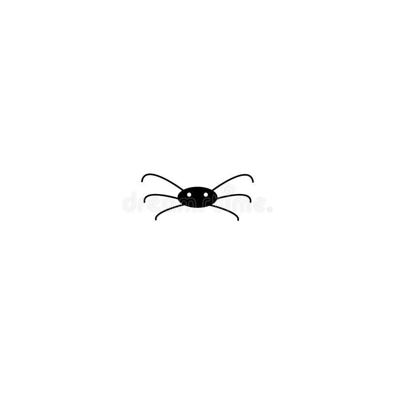 r?wnie? zwr?ci? corel ilustracji wektora Czarna paj?k ikona odizolowywaj?ca na bia?ym tle Tradycji Halloween symbol ilustracja wektor