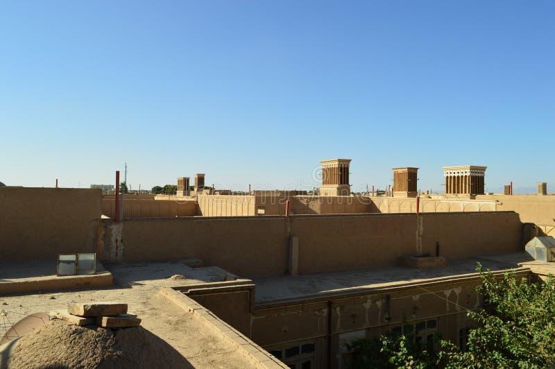 r Yazd Взгляд от крыши стоковые изображения rf