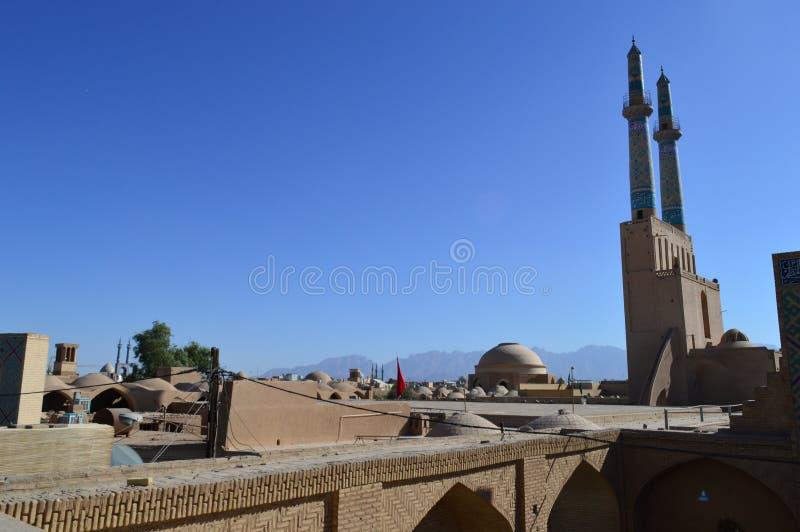 r Yazd Мечеть собора пятницы стоковые изображения rf