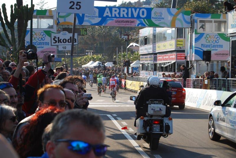 Raça 2009 do ciclo de Milão-Sanremo fotografia de stock royalty free