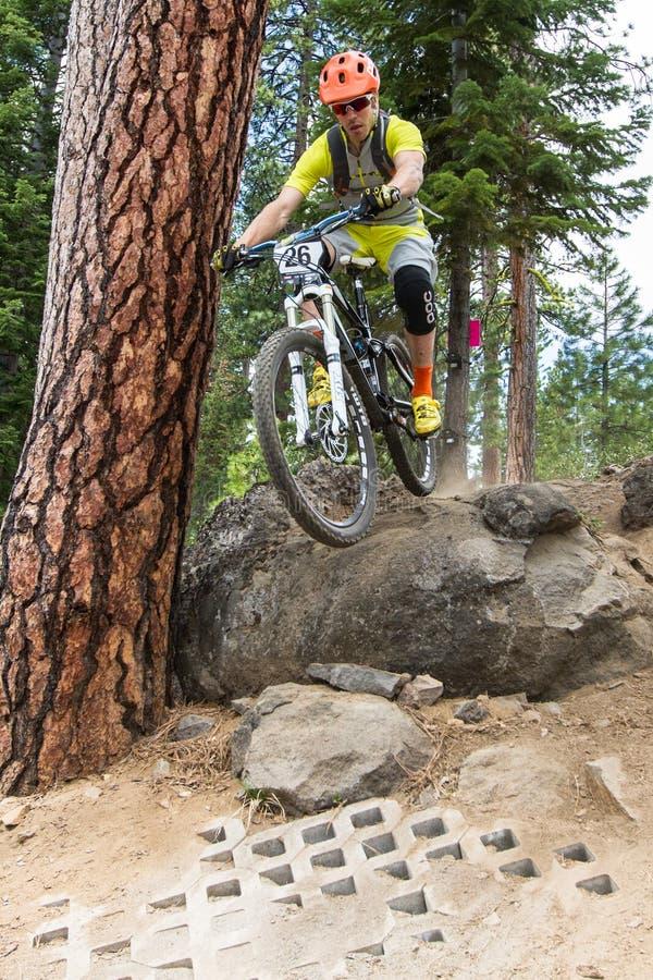 Raça 2012 da série de Oregon Enduro #1: Curvatura, OU foto de stock royalty free
