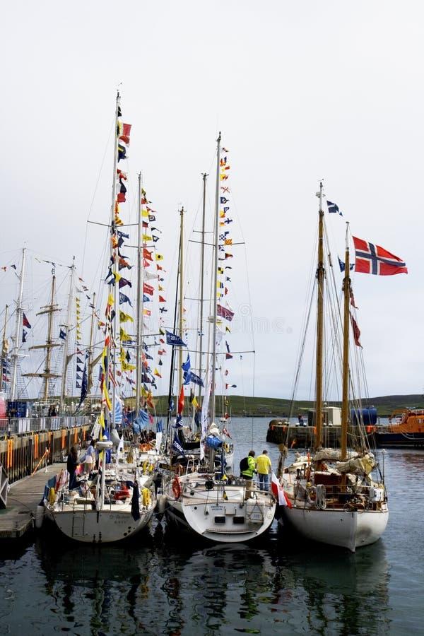 Raça alta dos navios Lerwick 2011 imagem de stock