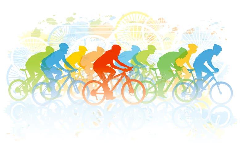 Raça da bicicleta ilustração stock