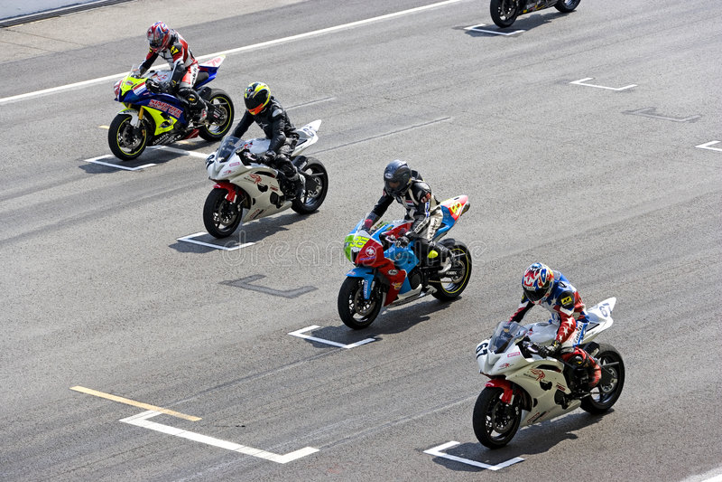 Raça da motocicleta foto de stock royalty free