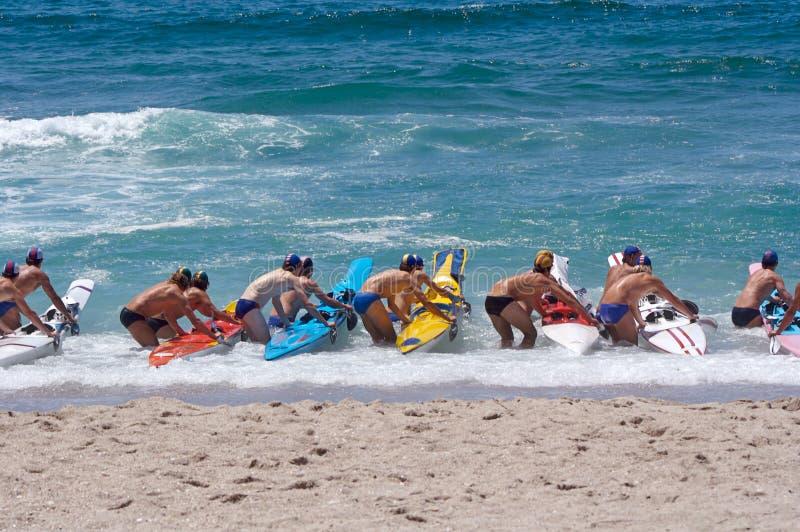 Raça da praia imagens de stock royalty free
