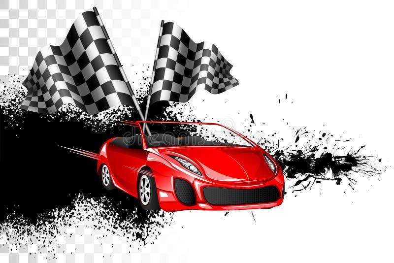 Raça de carro ilustração stock