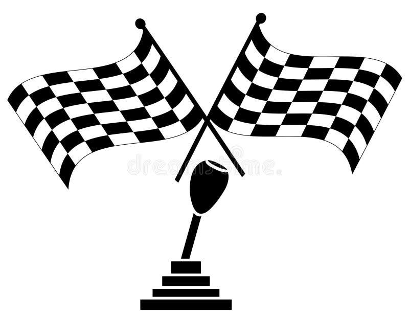 Raça de carro de vencimento ilustração royalty free