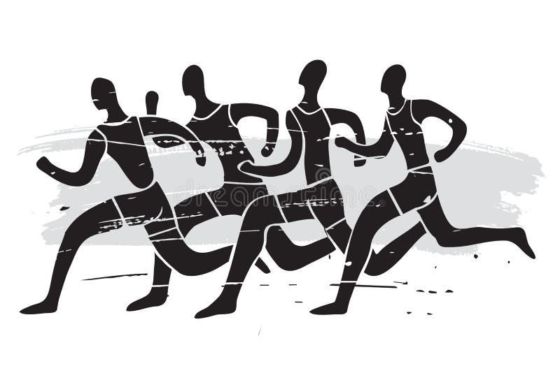Raça de corrida, grunge estilizado ilustração royalty free
