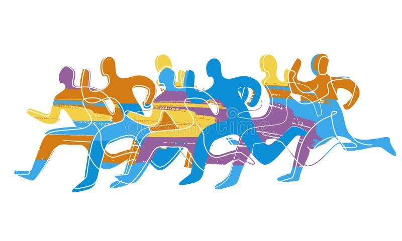 Raça de corrida, maratona ilustração do vetor