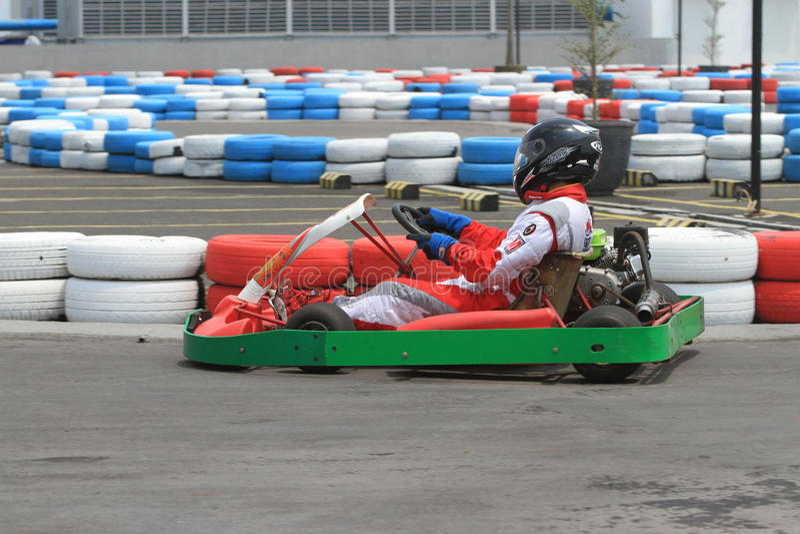 Raça de Kart foto de stock