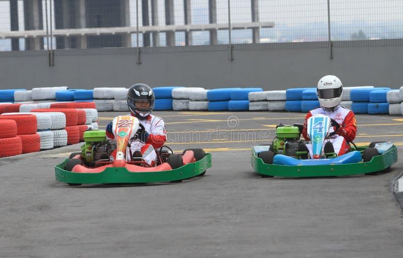 Raça de Kart fotografia de stock