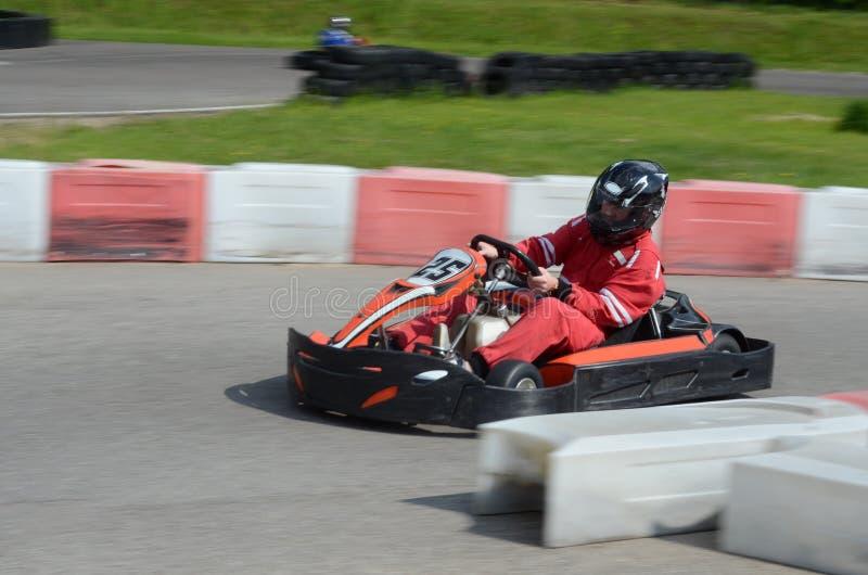 Raça de Karting fotografia de stock