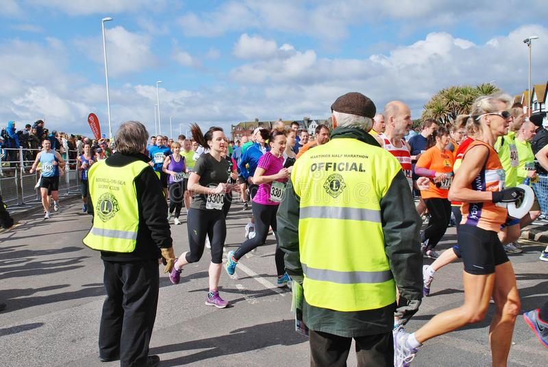 Raça de maratona de Hastings meia fotografia de stock royalty free
