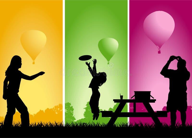 Raça do balão do piquenique