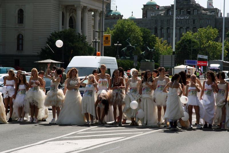 Raça do casamento foto de stock royalty free