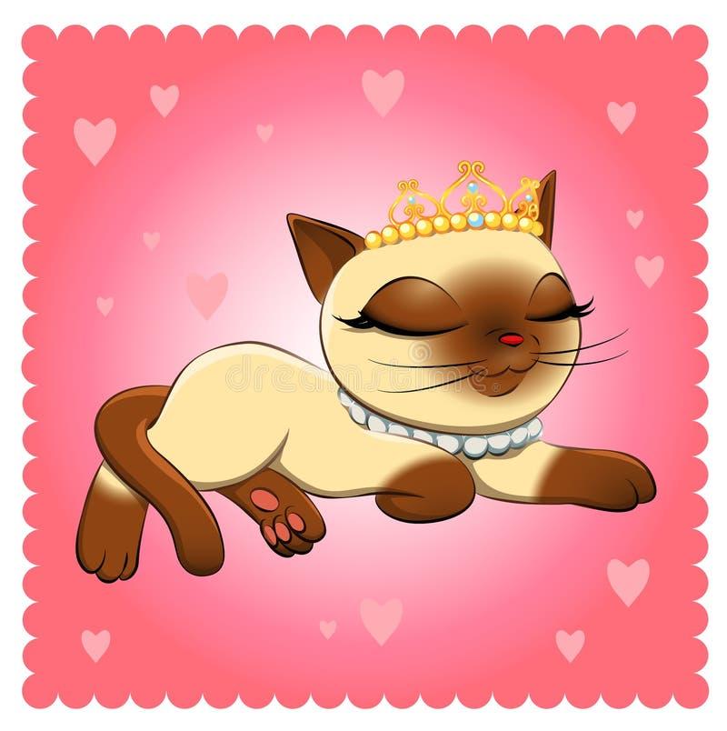 Raça do gato Gato Siamese ilustração stock