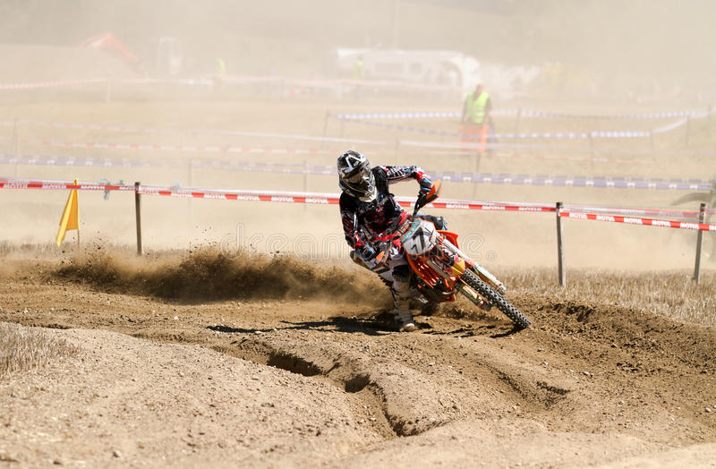 Raça do motocross fotografia de stock