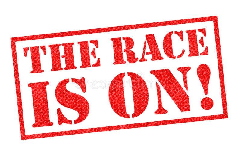 A raça está ligada! ilustração do vetor