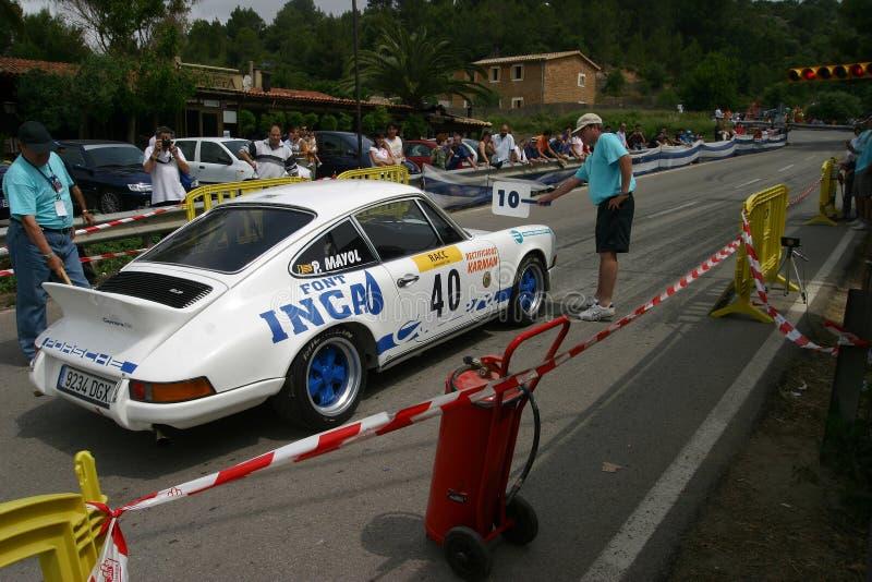 Raça local dos carros clássicos em mallorca fotografia de stock
