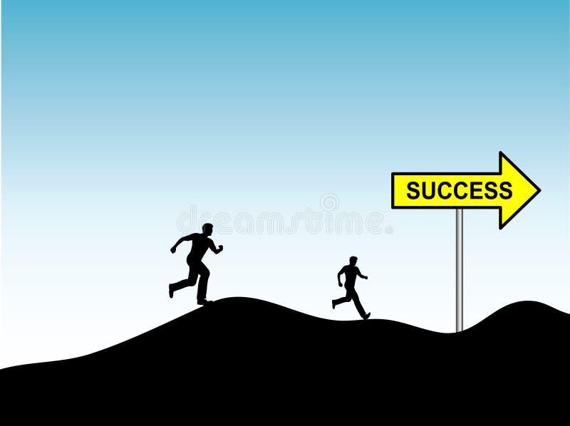 Raça para o sucesso ilustração do vetor