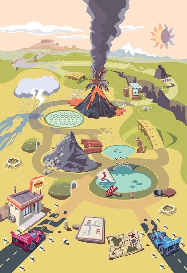 Raça perigosa em um mundo perigoso estranho ilustração royalty free