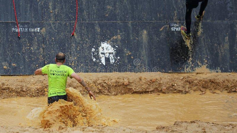 Raça running do obstáculo espartano fotografia de stock