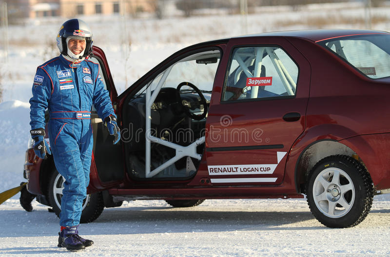 A raça Stars o rulyom de Za na estrada do gelo em Tushino fotografia de stock royalty free