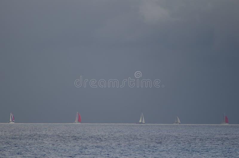 Raça transatlântica da ilha de Gran Canaria fotografia de stock