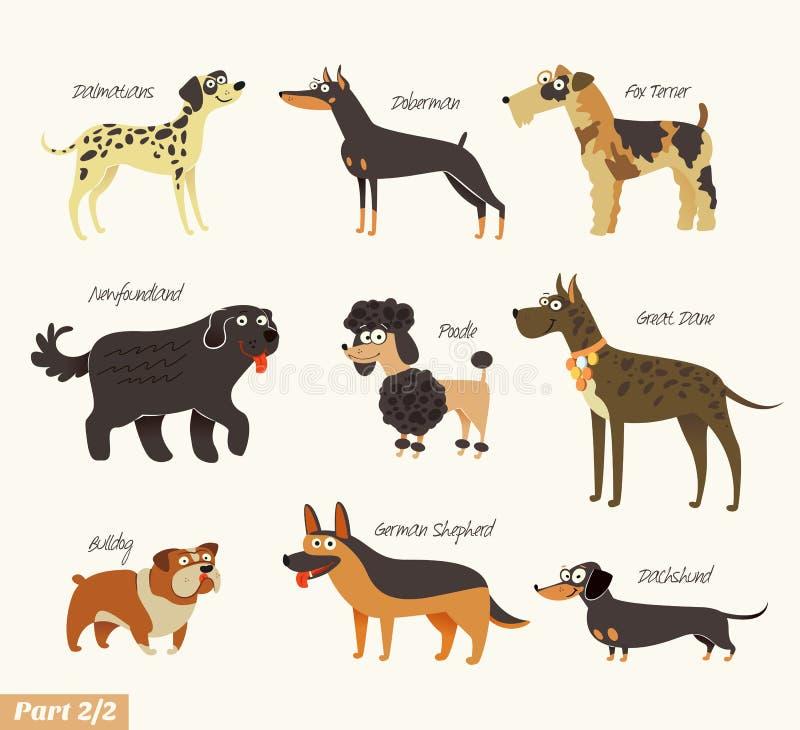 Raças do cão ilustração stock