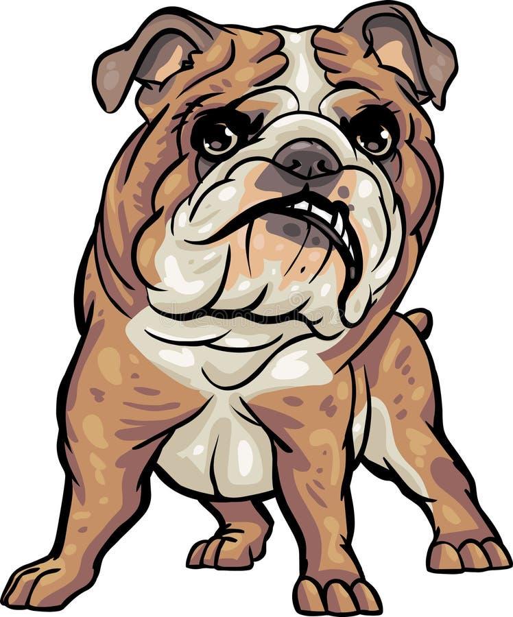 Raças do cão: Buldogue ilustração royalty free