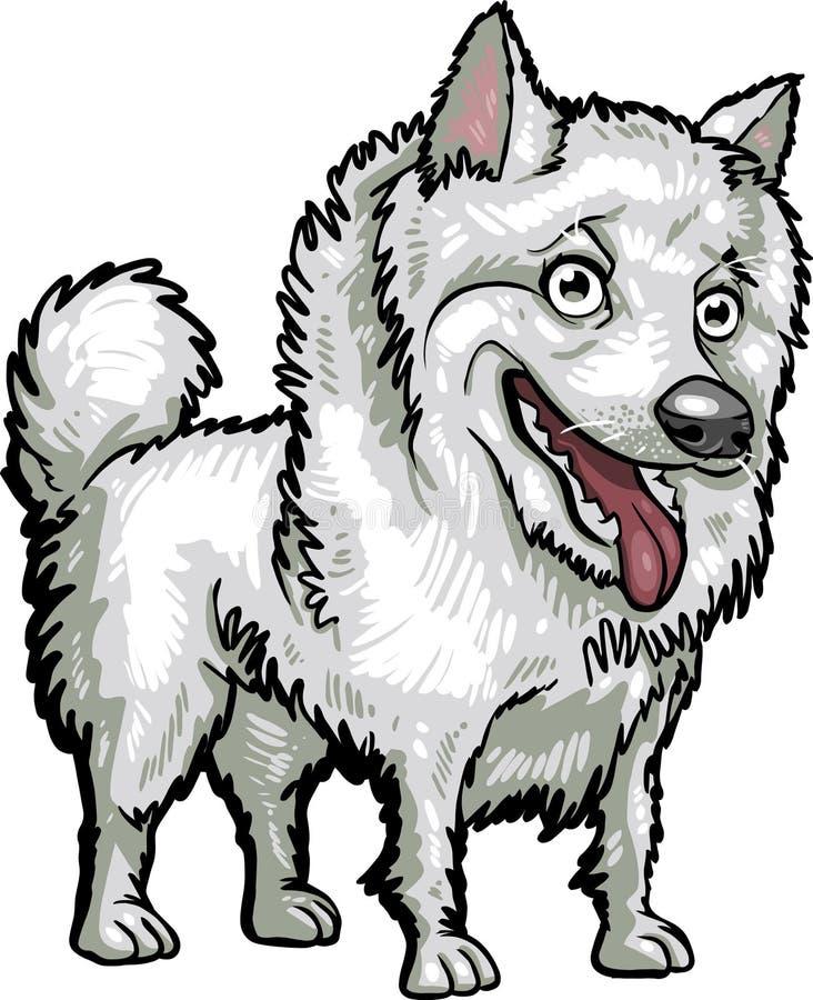 Raças do cão: Esquimó americano ilustração royalty free