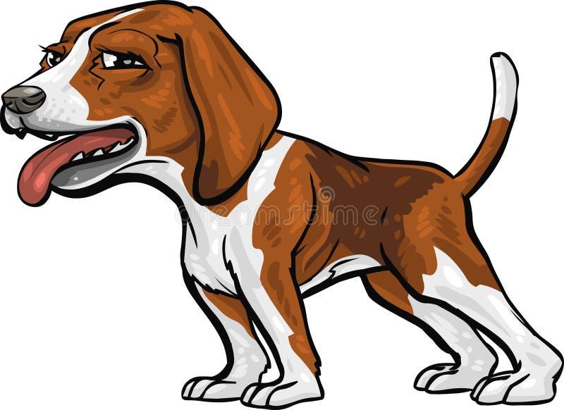 Raças do cão: Hound do lebreiro ilustração do vetor