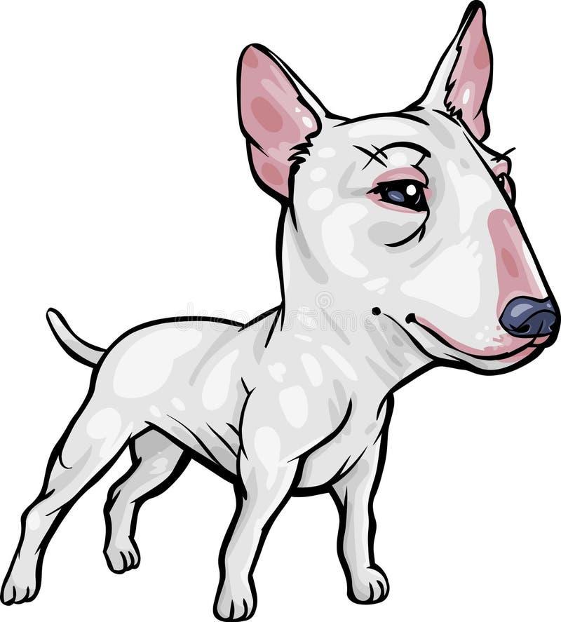 Raças do cão: Terrier de Bull ilustração royalty free