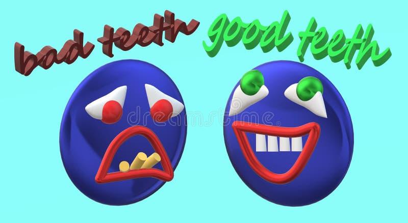 Raíces de diente dentales de los implantes de los dientes de la clínica libre illustration