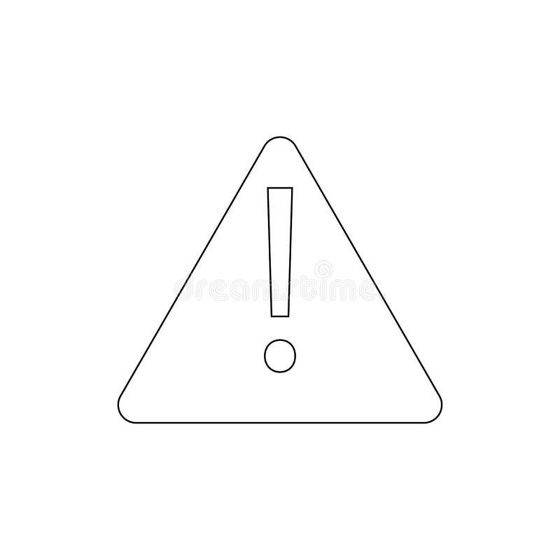 Raźna uwaga błędu wiadomości ostrzeżenia konturu ikona Znaki i symbole mog? u?ywa? dla sieci, logo, mobilny app, UI, UX royalty ilustracja