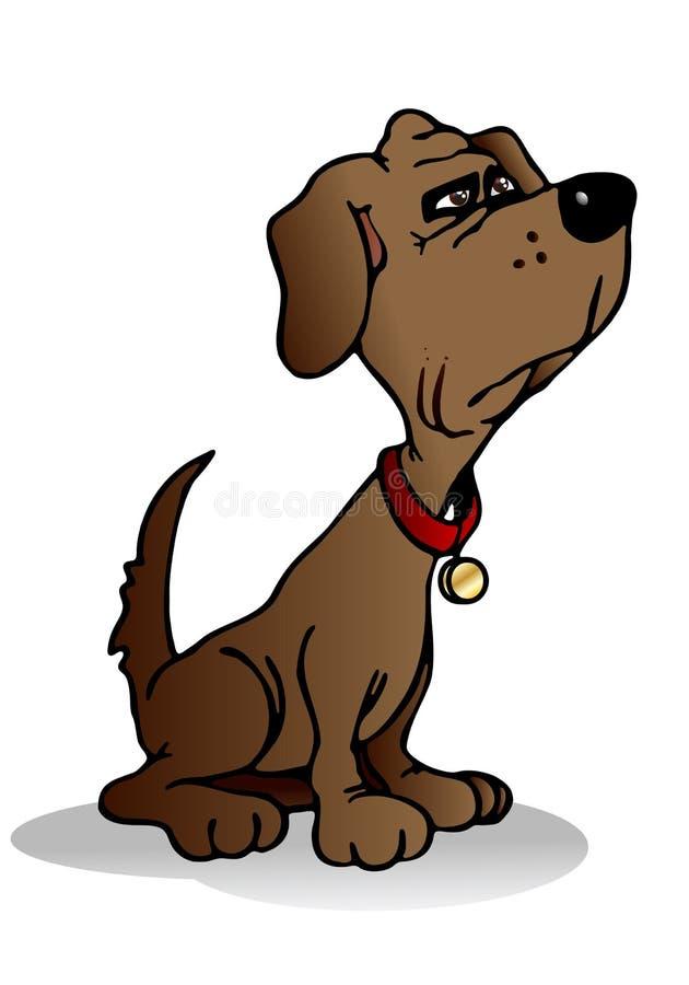 Raźny pies royalty ilustracja