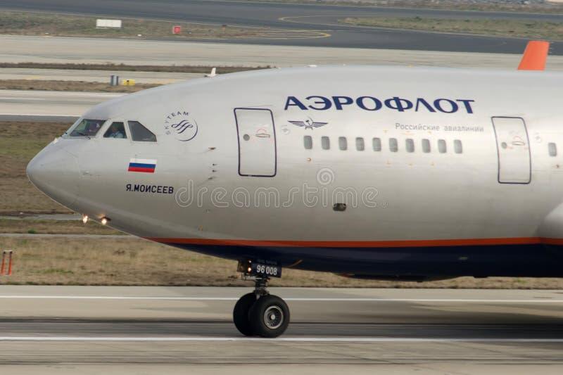 RA96008 Aeroflot Ilyushin ii-96-300 royalty-vrije stock foto's
