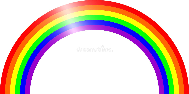 RA-arco-íris imagem de stock