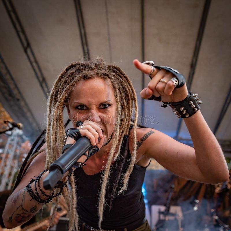 Ra do  de MÄ no Fest BG do metal de Pollo 26-08-2018 imagem de stock