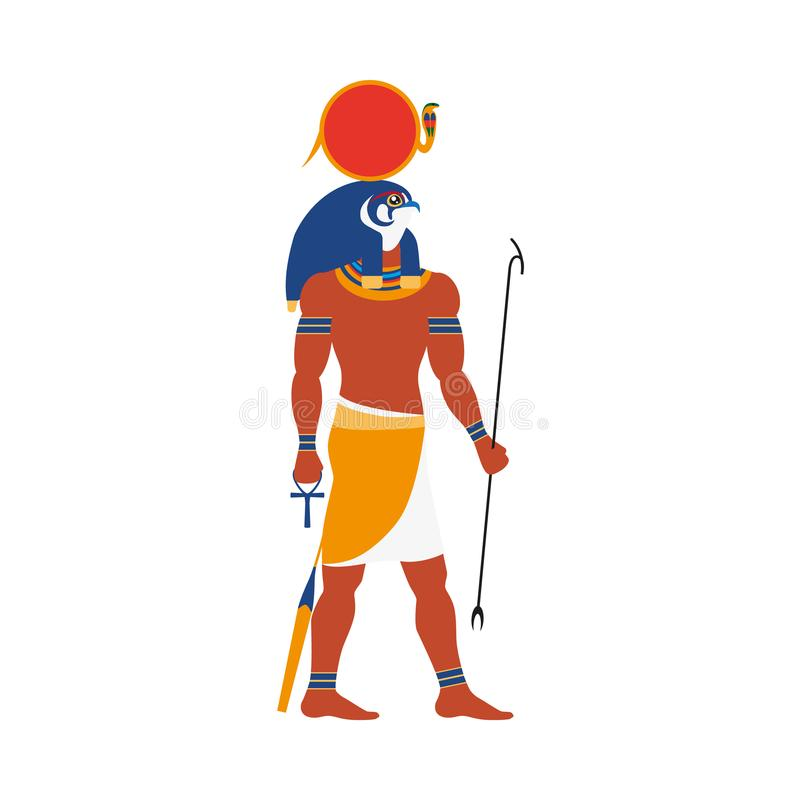Ra, god of noon sun in ancient Egypt religion royalty free illustration