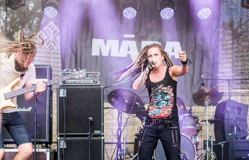 Ra Lisenko de  du chanteur MÄ de Ra letton de  de la bande métallique MÄ photos libres de droits