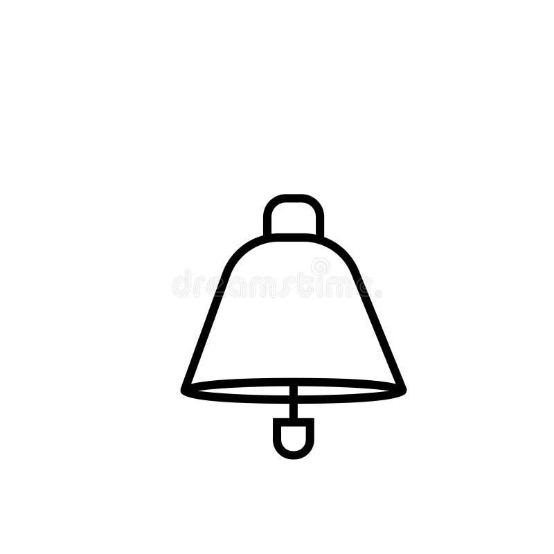 Ra?ny dzwonkowy ikona wektoru znaka symbolu ostrze?enia dzwon ilustracja wektor