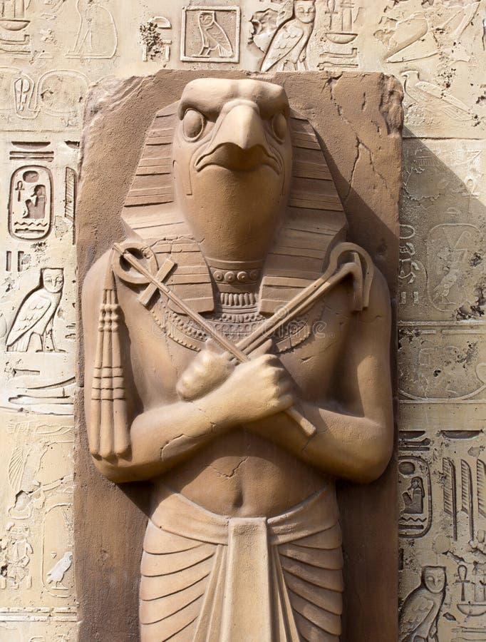 Ra - Sun God. Statue of Ra - Sun God royalty free stock image