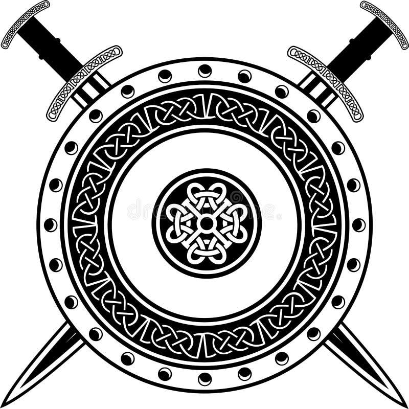 Raad en zwaarden vector illustratie