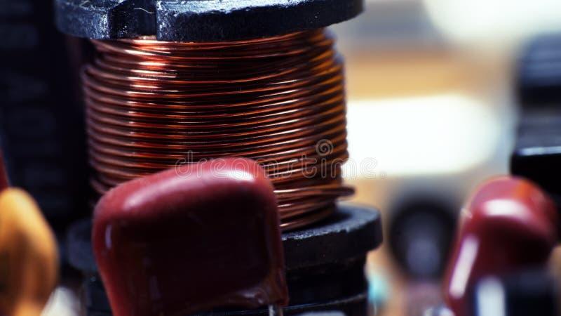 Raad van de de printercontrole van de condensatordraad de ultra macro royalty-vrije stock afbeelding