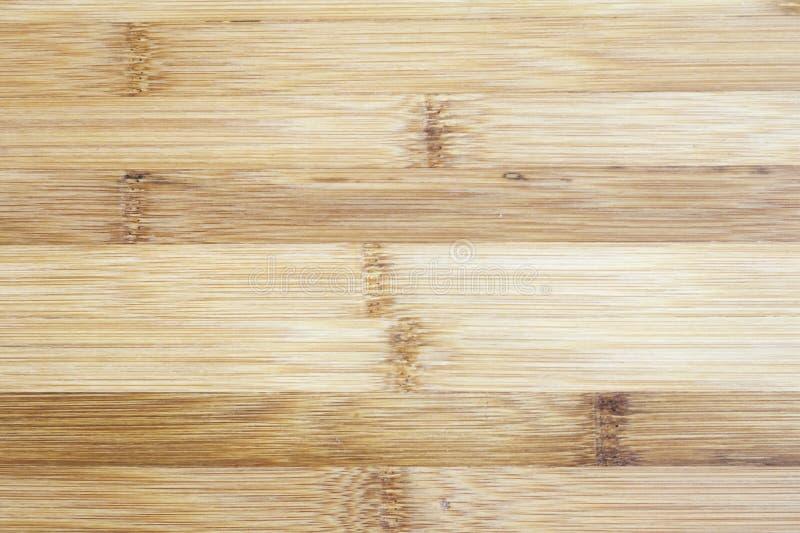 Raad van natuurlijk bamboehout dat wordt gemaakt Achtergrond i van het texturenpatroon stock foto